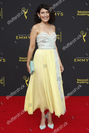 Lisa Edelstein arrives for the 2019 Creative Arts Emmy Awards at the Microsoft Theater in Los Angeles, California, USA, 15 September 2019. The Creative Arts Emmy Awards honor excellence in Television technical categories such as makeup, casting direction, costume design, editing and cinematography. The 71st Primetime Emmy Awards Ceremony will take place on 22 September 2019.