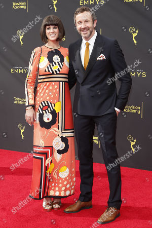 Chris O'Dowd (R) and his wife British writer Dawn O'Porter (L) arrive for the 2019 Creative Arts Emmy Awards at the Microsoft Theater in Los Angeles, California, USA, 15 September 2019. The Creative Arts Emmy Awards honor excellence in Television technical categories such as makeup, casting direction, costume design, editing and cinematography. The 71st Primetime Emmy Awards Ceremony will take place on 22 September 2019.