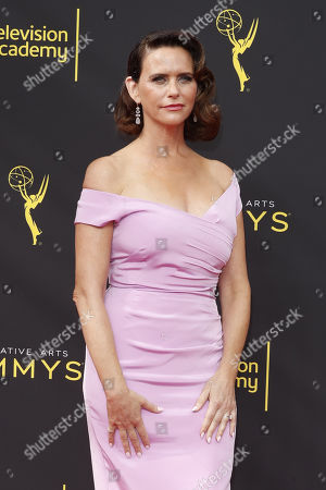 Amy Landecker arrives for the 2019 Creative Arts Emmy Awards at the Microsoft Theater in Los Angeles, California, USA, 15 September 2019. The Creative Arts Emmy Awards honor excellence in Television technical categories such as makeup, casting direction, costume design, editing and cinematography. The 71st Primetime Emmy Awards Ceremony will take place on 22 September 2019.