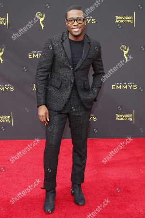 Shameik Moore arrives for the 2019 Creative Arts Emmy Awards at the Microsoft Theater in Los Angeles, California, USA, 15 September 2019. The Creative Arts Emmy Awards honor excellence in Television technical categories such as makeup, casting direction, costume design, editing and cinematography. The 71st Primetime Emmy Awards Ceremony will take place on 22 September 2019.