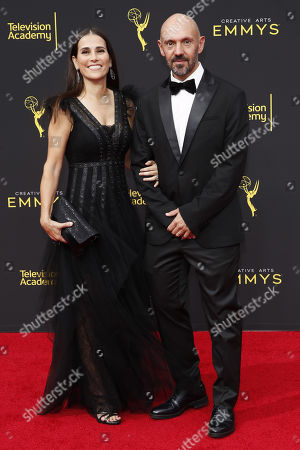 Stock Image of Mexican cinematographer Gonzalo Amat (R) and wife Aurora Amat (L) arrive for the 2019 Creative Arts Emmy Awards at the Microsoft Theater in Los Angeles, California, USA, 15 September 2019. The Creative Arts Emmy Awards honor excellence in Television technical categories such as makeup, casting direction, costume design, editing and cinematography. The 71st Primetime Emmy Awards Ceremony will take place on 22 September 2019.