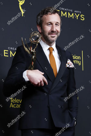 Chris O'Dowd poses with the Outstanding Short Form Comedy or Drama Series Award for 'State of the Union' during the 2019 Creative Arts Emmy Awards at the Microsoft Theater in Los Angeles, California, USA, 15 September 2019. The Creative Arts Emmy Awards honor excellence in Television technical categories such as makeup, casting direction, costume design, editing and cinematography. The 71st Primetime Emmy Awards Ceremony will take place on 22 September 2019.
