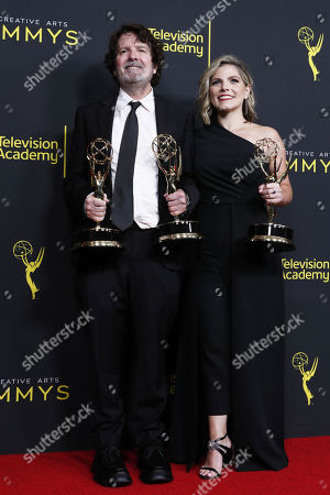 Stock Picture of Billy Hopkins (L) and Ashley Ingram pose with the Outstanding Casting for a Limited Series, Movie or Special Award for 'When They See Us' in the press during the 2019 Creative Arts Emmy Awards at the Microsoft Theater in Los Angeles, California, USA, 15 September 2019. The Creative Arts Emmy Awards honor excellence in Television technical categories such as makeup, casting direction, costume design, editing and cinematography. The 71st Primetime Emmy Awards Ceremony will take place on 22 September 2019.