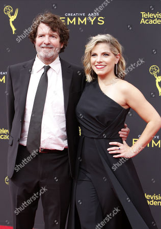 Stock Photo of Casting director Ashley Ingram (R) and US actor Billy Hopkins (L) arrive for the 2019 Creative Arts Emmy Awards at the Microsoft Theater in Los Angeles, California, USA, 15 September 2019. The Creative Arts Emmy Awards honor excellence in Television technical categories such as makeup, casting direction, costume design, editing and cinematography. The 71st Primetime Emmy Awards Ceremony will take place on 22 September 2019.