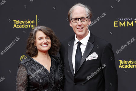 Jeff Beal (R) and his wife Joan (L) arrive for the 2019 Creative Arts Emmy Awards at the Microsoft Theater in Los Angeles, California, USA, 15 September 2019. The Creative Arts Emmy Awards honor excellence in Television technical categories such as makeup, casting direction, costume design, editing and cinematography. The 71st Primetime Emmy Awards Ceremony will take place on 22 September 2019.