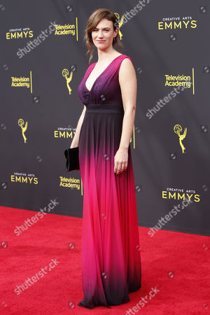 Maggie Siff arrives for the 2019 Creative Arts Emmy Awards at the Microsoft Theater in Los Angeles, California, USA, 15 September 2019. The Creative Arts Emmy Awards honor excellence in Television technical categories such as makeup, casting direction, costume design, editing and cinematography. The 71st Primetime Emmy Awards Ceremony will take place on 22 September 2019.