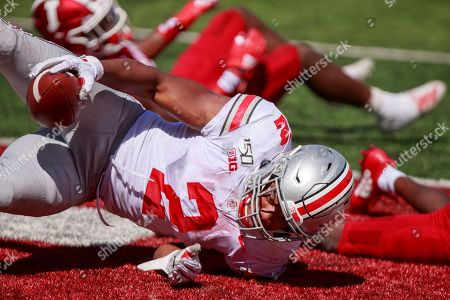 Ohio State's J.K. Dobbins scores a touchdown against Indiana University