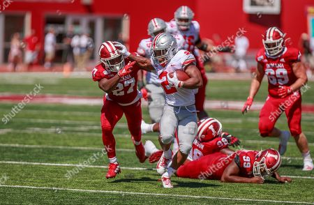 Stock Image of Ohio State's J.K. Dobbins scores a touchdown against Indiana University