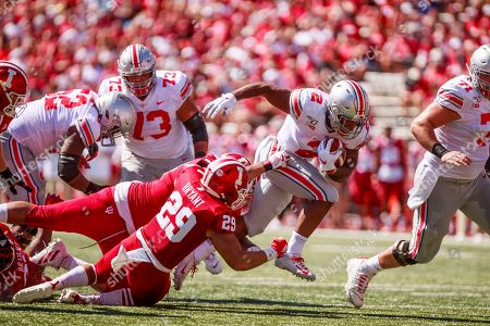 Editorial image of Indiana University v Ohio State, NCAA football, IU Memorial Stadium, Bloomington, USA - 14 Sep 2019