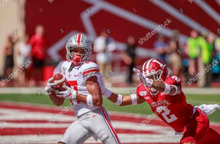 Stock Picture of Ohio State's Chris Olave (17) makes a touchdown catch against Indiana University's Reese Taylor (2)