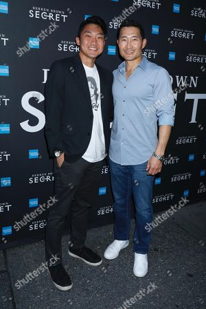 Daniel Dae Kim (R) and son Zander Kim