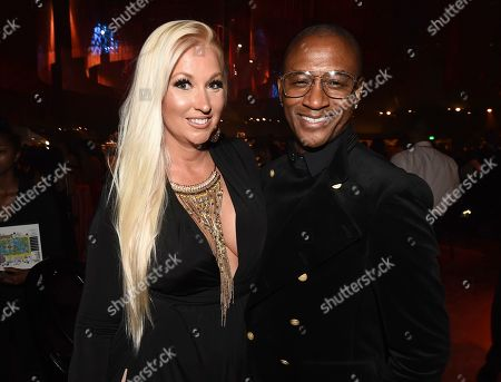 Tommy Davidson, Amanda Moore. Tommy Davidson, right, and Amanda Moore attend the Governors Ball during night two of the Television Academy's 2019 Creative Arts Emmy Awards, at the Microsoft Theater in Los Angeles