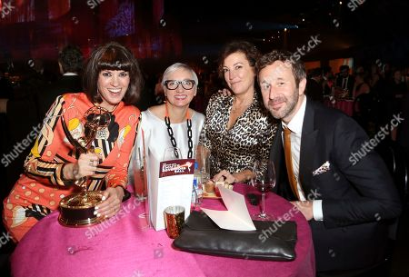 "Dawn O'Porter, Donna French, Nina Gold, Chris O'Dowd. Dawn O'Porter, from left, Donna French, Nina Gold, and Chris O'Dowd, winner of the award for outstanding short form comedy or drama for ""State of the Union,"" attend the Governors Ball during night two of the Television Academy's 2019 Creative Arts Emmy Awards, at the Microsoft Theater in Los Angeles"