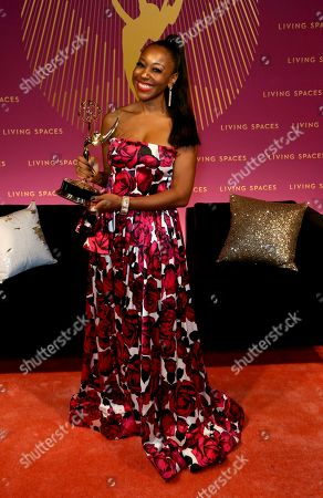 Stock Picture of Kinya Claiborne attends the Governors Ball during night two of the Television Academy's 2019 Creative Arts Emmy Awards, at the Microsoft Theater in Los Angeles