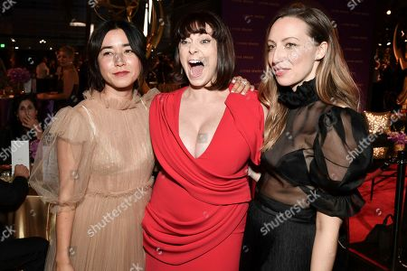 Maya Erskine, Rachel Bloom, Anna Konkle. Maya Erskine, from left, Rachel Bloom and Anna Konkle attend the Governors Ball on night two of the Creative Arts Emmy Awards, in Los Angeles