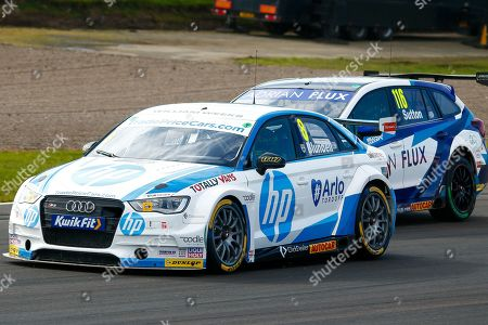 Mark BLUNDELL TradePriceCars.com & Ashley SUTTON Adrian Flux Subaru Racing during Round 23 of the Kwikfit British Touring Car Championship at Knockhill Racing Circuit, Dunfermline
