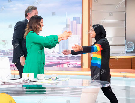 Stock Photo of Piers Morgan and Susanna Reid with Sinead O'Connor