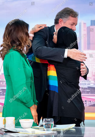 Stock Image of Piers Morgan and Susanna Reid with Sinead O'Connor