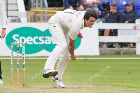 Chris Wright bowling during the Specsavers County Champ Div 2 match between Glamorgan County Cricket Club and Leicestershire County Cricket Club at the SWALEC Stadium, Cardiff