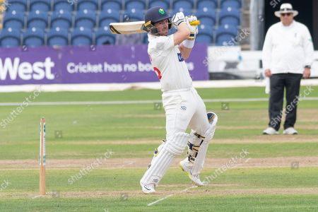Stock Photo of David Lloyd batting during the Specsavers County Champ Div 2 match between Glamorgan County Cricket Club and Leicestershire County Cricket Club at the SWALEC Stadium, Cardiff