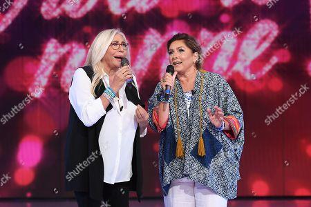 Mara Venier and Romina Power
