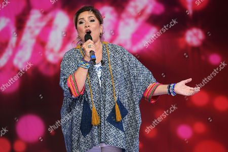 Romina Power during the performance