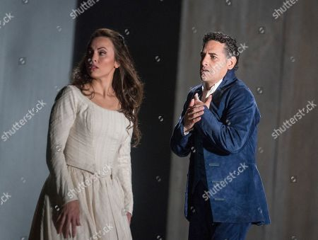 Stock Picture of Juan Diego Flores as Werther,  Isabel Leonard as Charlotte