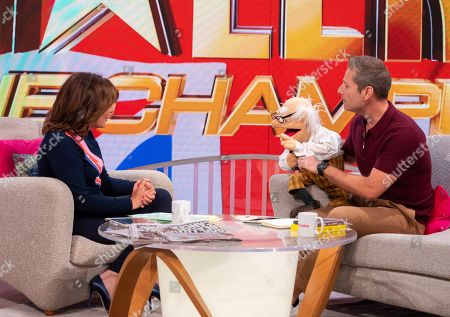 Lorraine Kelly and Paul Zerdin