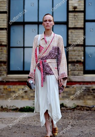 Editorial photo of Street Style, Spring Summer 2020, London Fashion Week, UK - 15 Sep 2019
