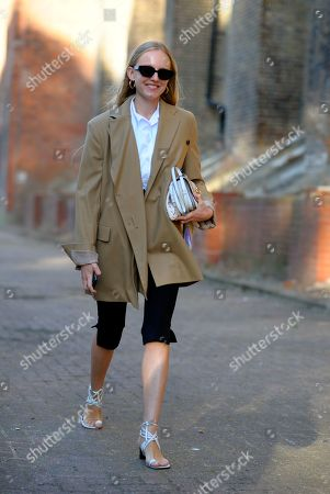 Stock Picture of Alexandra Carl arrival for Simone Rocha fashion show, Alexander Palace, London.