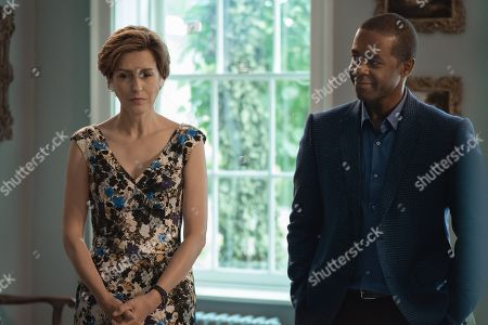 Gina Mckee as Jennifer Birch and Adrian Lester as Conrad Grantchester