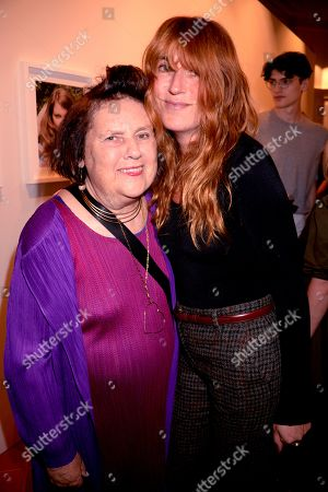 Stock Image of Suzy Menkes and Kim Sion