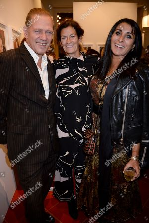 Paul Simonon, Venetia Scott and Serena Rees