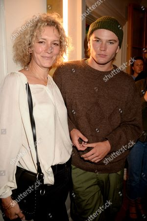 Jordan Barrett (right) and guest