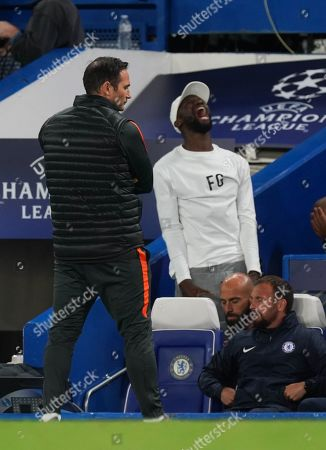 As Ross Barkley misses a penalty, Chelsea Manager Frank Lampard turns away, and Antonio Rudiger shouts in frustration