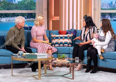 Stock Image of Phillip Schofield and Holly Willoughby with Leah O'Brien