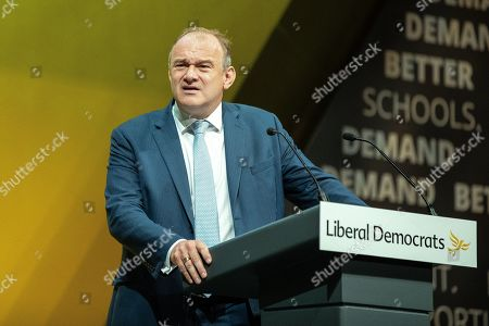 Deputy Leader Ed Davey delivers his speech