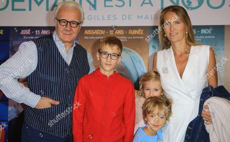 Alain Ducasse and his wife Gwenaelle with children