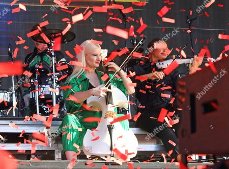 Grace Chatto of British Electro Pop band Clean Bandit performs live on stage at the BBC Radio 2 Live in Hyde Park, London.