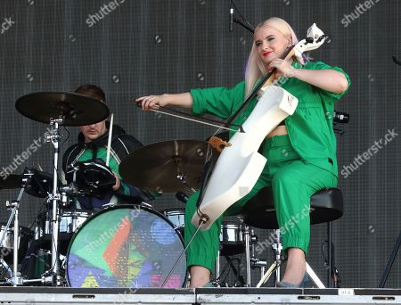 Grace Chatto of British Electro Pop band Clean Bandit performs live on stage at BBC Radio 2 Live in Hyde Park, London.
