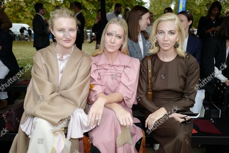 Stock Picture of Candice Lake, Alice Naylor-Leyland and Sabine Getty in the front row