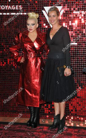 Christina Aguilera and Holly Branson
