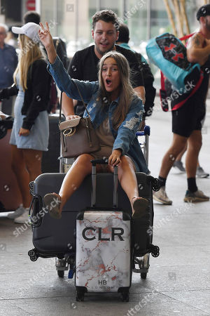 Editorial image of 'The Only Way Is Essex' TV show filming, Malaga Airport, Marbella, Spain - 16 Sep 2019