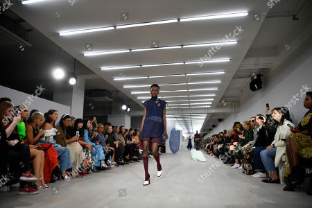 Models present creations by Richard Malone during London Fashion Week, in London, Britain, 16 September 2019. Spring/summer 2020 collections are presented at the fashion week running from 13 to 17 September.