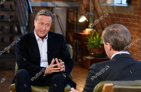 David Cameron with Tom Bradby