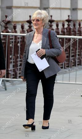 Stock Photo of David Beckham's mum Sandra Georgina West