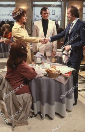 Gayle Hunnicutt as Susan Mandeville, Jacqueline Hill as Melanie Litmayer, Martin Ryan Grace as Shaun and Bosco Hogan as Tony Medway