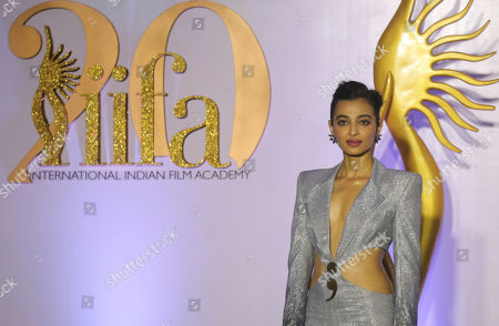 Bollywood actor Radhika Apte poses as she arrives to attend International Indian Film Academy (IIFA) Rocks, a pre-awards event of the 20th IIFA awards in Mumbai, India,. The 20th IFFA awards ceremony will be held in Mumbai on Sept. 18