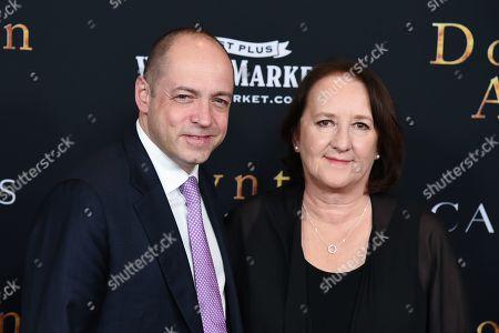 Gareth Neame and Liz Trubridge