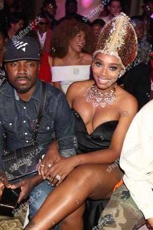 Yandy Smith in the front row